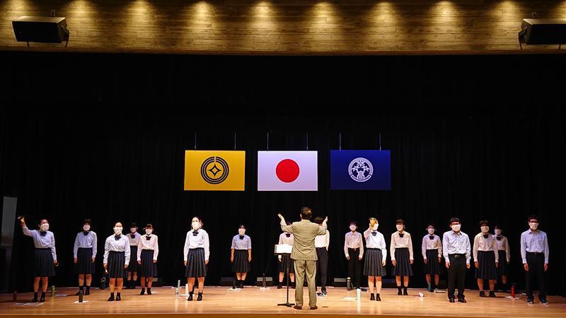 8月17日(火)大ホールでの練習風景